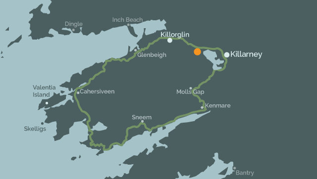 Ring of Kerry map | directions and highlights | Inveraray Farm Driving The Ring Of Kerry Map on
